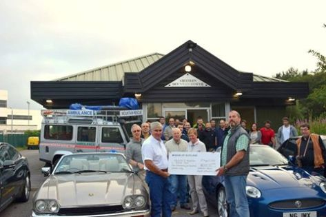 AMRT Receives Donation from Grampian Jaguar Enthusiasts